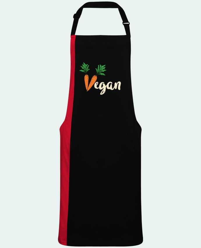 Delantal Bicolor Vegan carrot por  Bichette