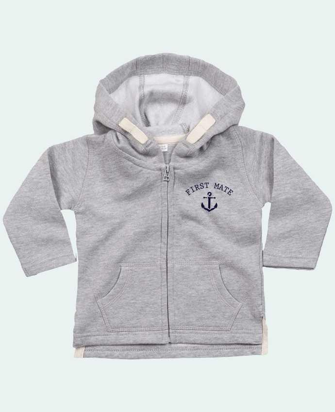 Sudadera Capucha con Cermallera Capitain and first mate por tunetoo