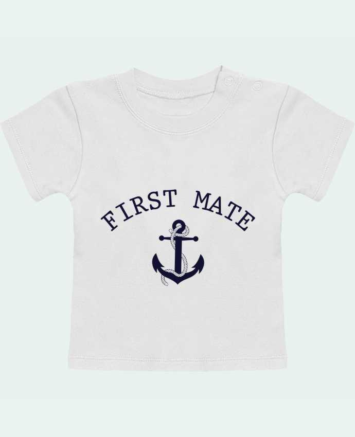 Camiseta Bebé Manga Corta Capitain and first mate manches courtes du designer tunetoo