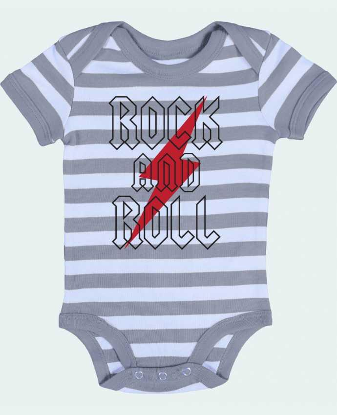 Body Bebé a Rayas Rock And Roll - Freeyourshirt.com