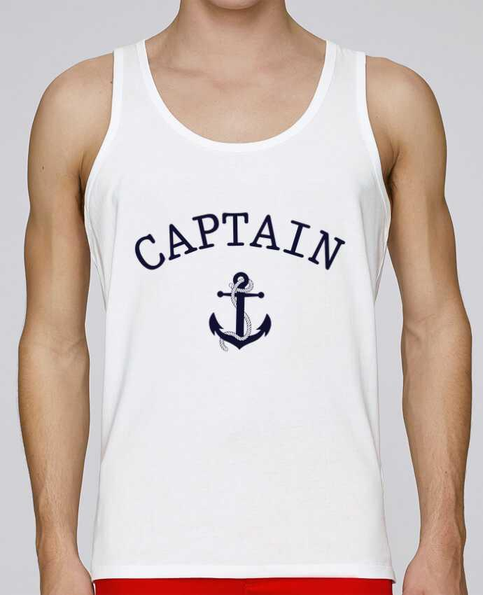 Camiseta de tirantes algodón orgánico hombre Stanley Runs Capitain and first mate por tunetoo 100% coton bio