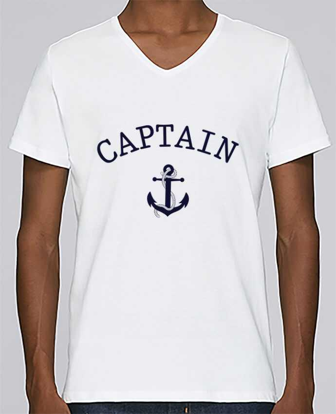 Camiseta Hombre Cuello en V Stanley Relaxes Capitain and first mate por tunetoo