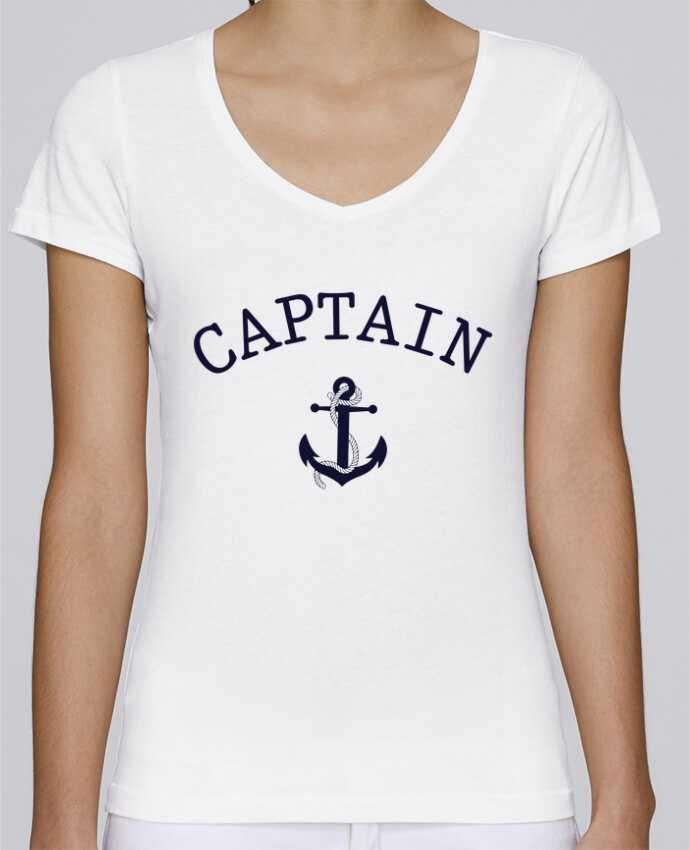 Camiseta Mujer Cuello en V Stella Chooses Capitain and first mate por tunetoo