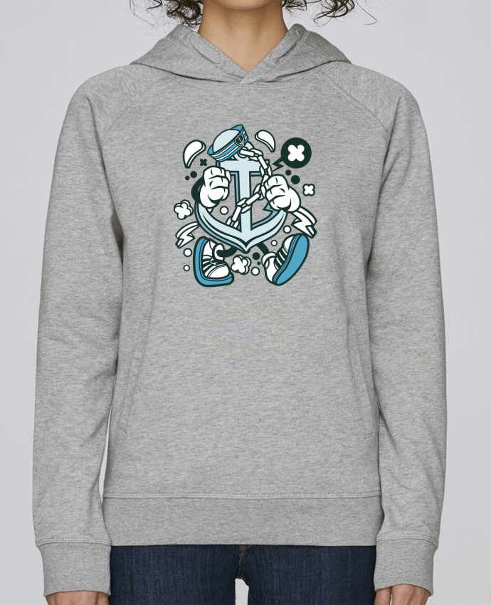 Sudadera Hombre Capucha Stanley Base Ancre de bateau Cartoon | By Kap Atelier Cartoon por Kap Atelier