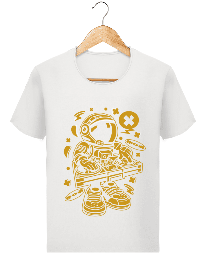 Camiseta Hombre Stanley Imagine Vintage Dj Astronaute Golden Cartoon | By Kap Atelier Cartoon por Kap Atelier
