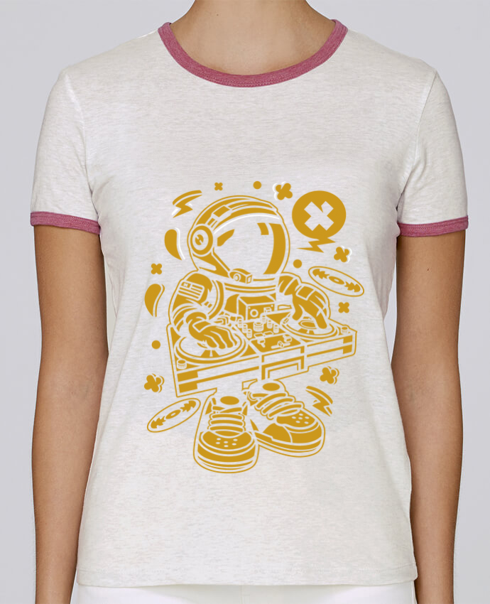 Camiseta Mujer Stella Returns Dj Astronaute Golden Cartoon | By Kap Atelier Cartoon pour femme por Kap Atelier