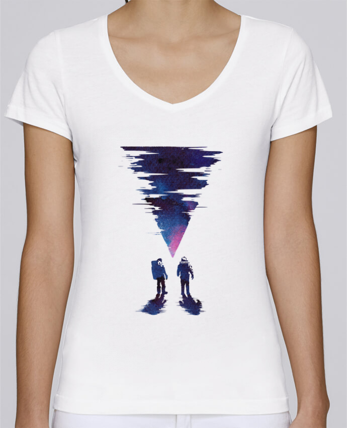 Camiseta Mujer Cuello en V Stella Chooses The thing por robertfarkas