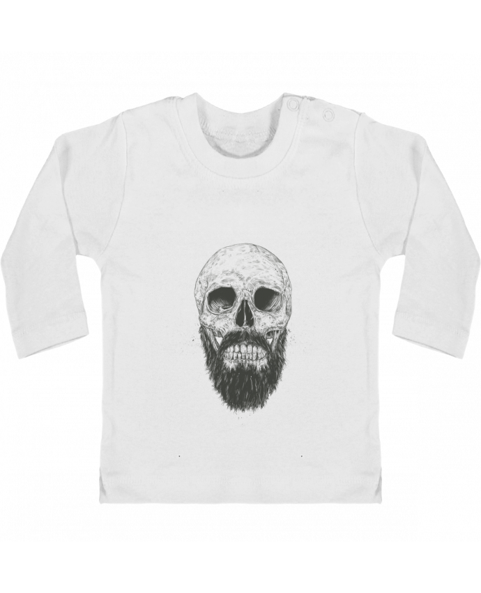 Camiseta Bebé Manga Larga con Botones  Beard is not dead manches longues du designer Balàzs Solti