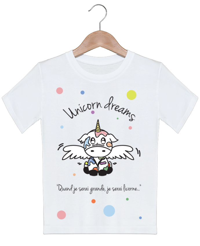 T-shirt garçon motif Unicorn Dreams - Little cow BlassCrea