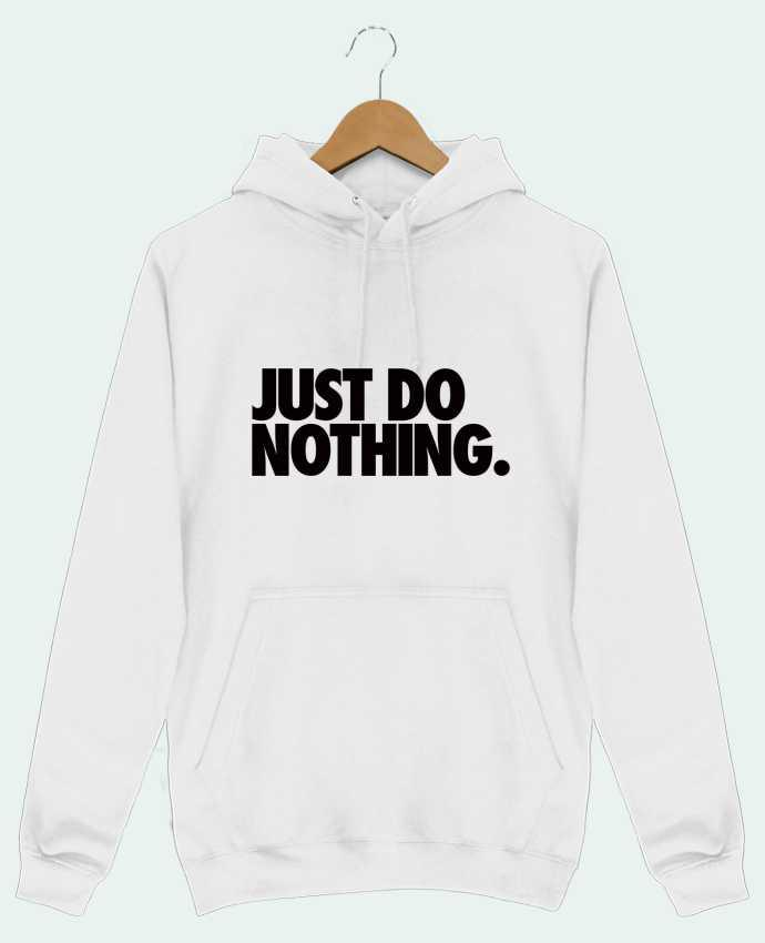 Sudadera Básica Capucha Hombre Just Do Nothing por Freeyourshirt.com