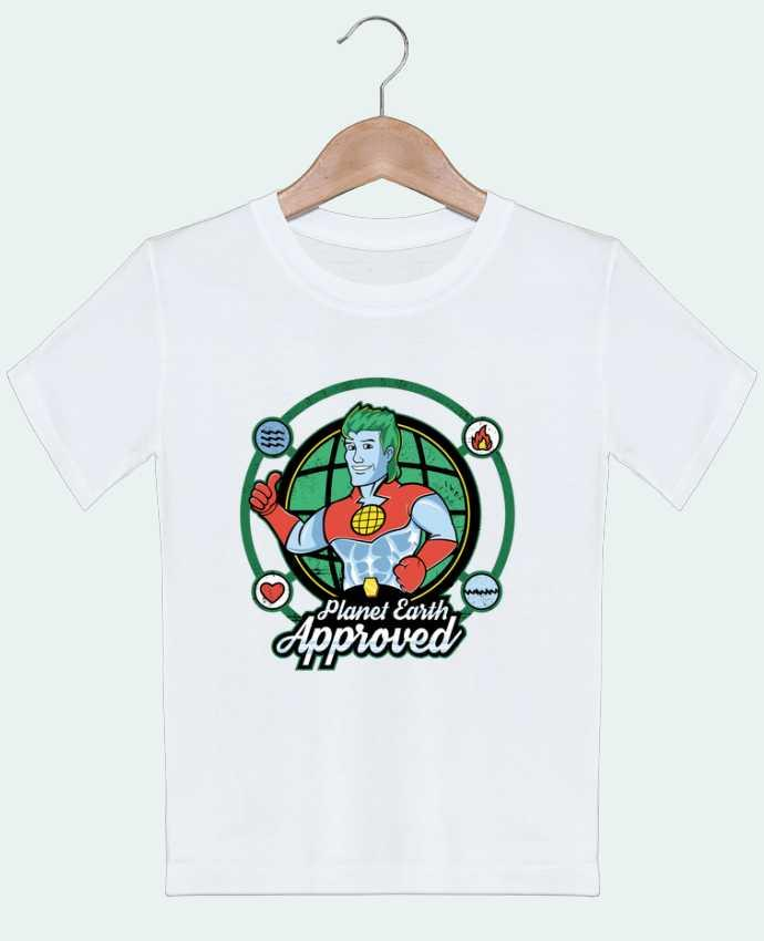 T-shirt garçon motif Planet Earth Approved Kempo24