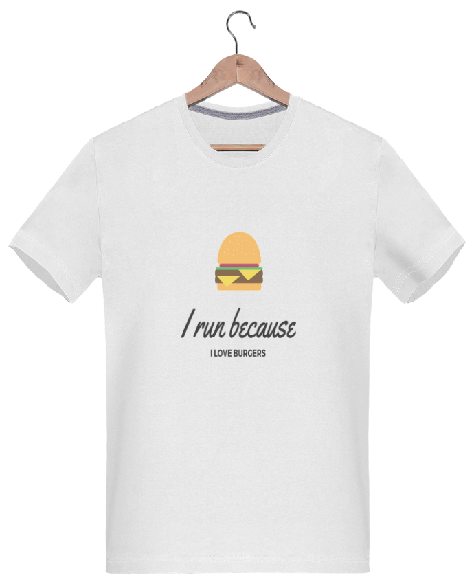 Camiseta Hombre 180g I run because I love burgers por followmeggy