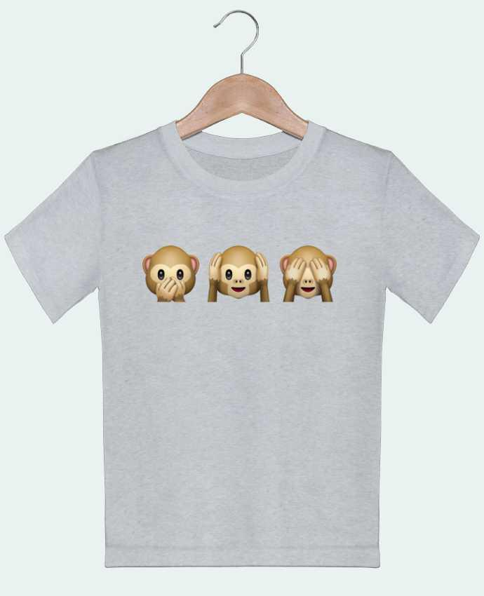 T-shirt garçon motif Three monkeys Bichette