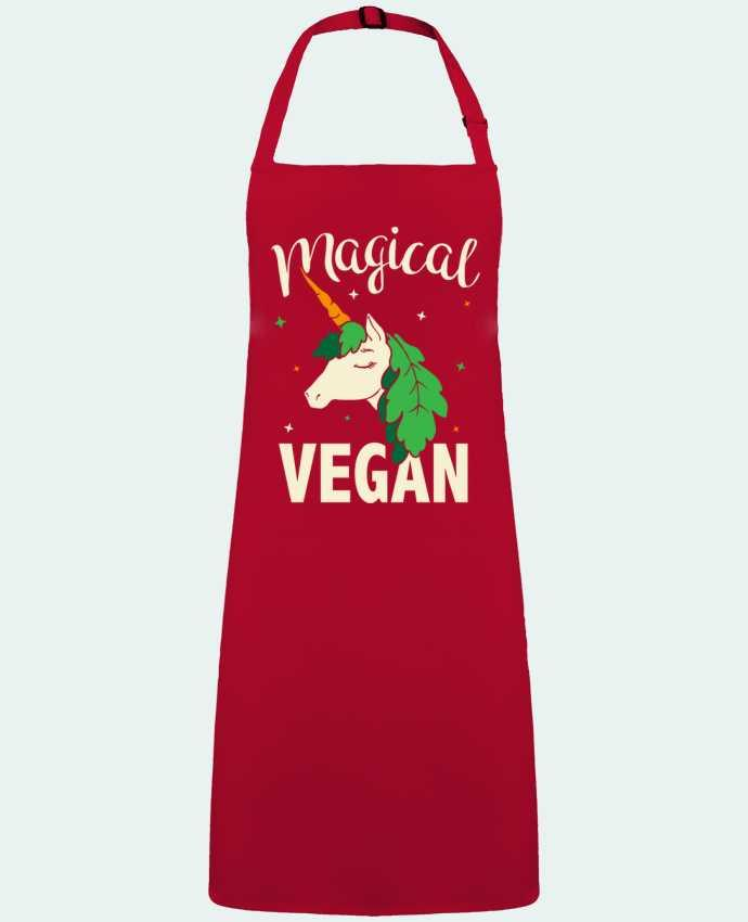 Delantal Sin Bolsillo Magical vegan por  Bichette