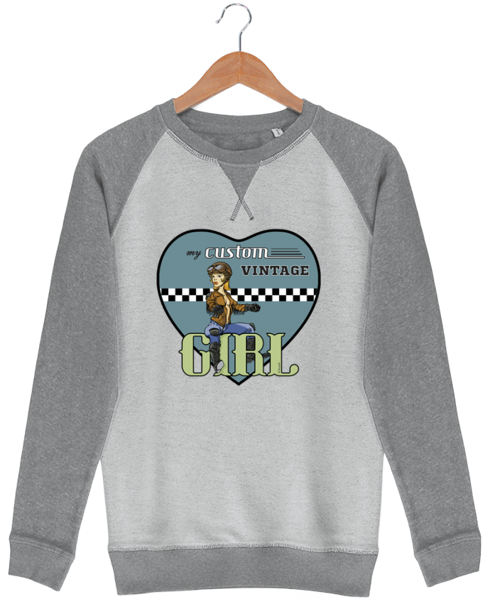Sudadera French Terry My custom vintage girl por BRUZEFH