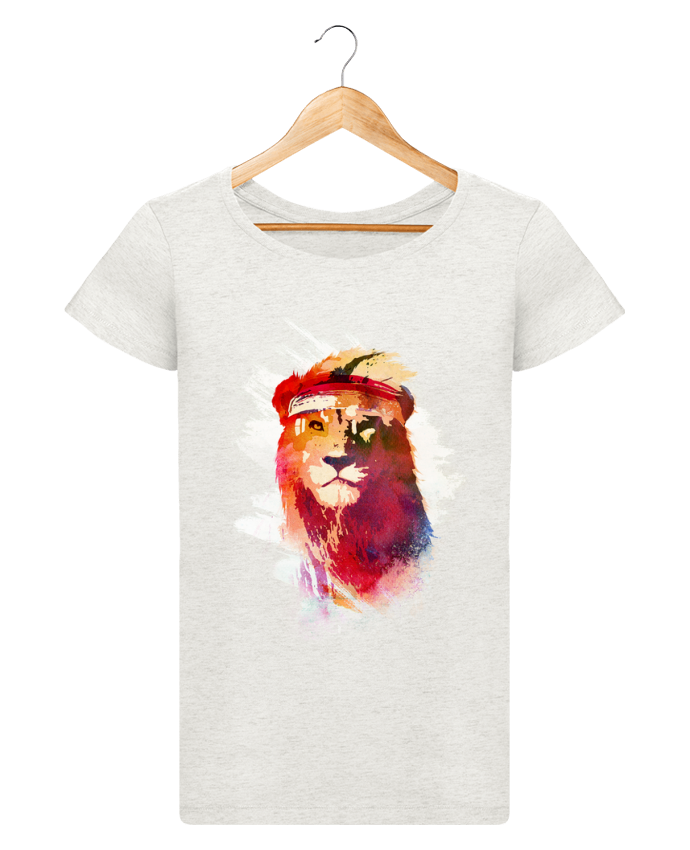Camiseta Mujer Stellla Loves Gym lion por robertfarkas