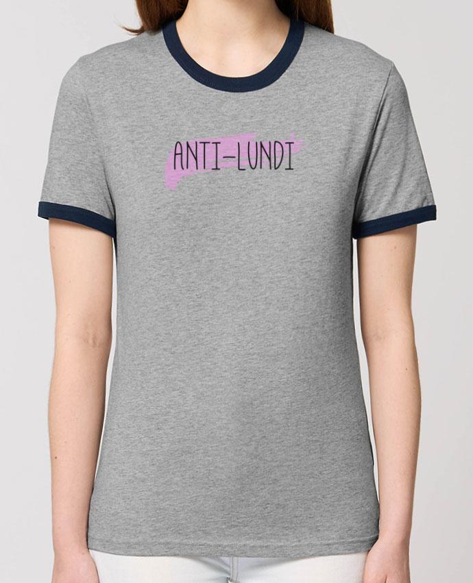 T-Shirt Contrasté Unisexe Stanley RINGER Anti-lundi portunetoo