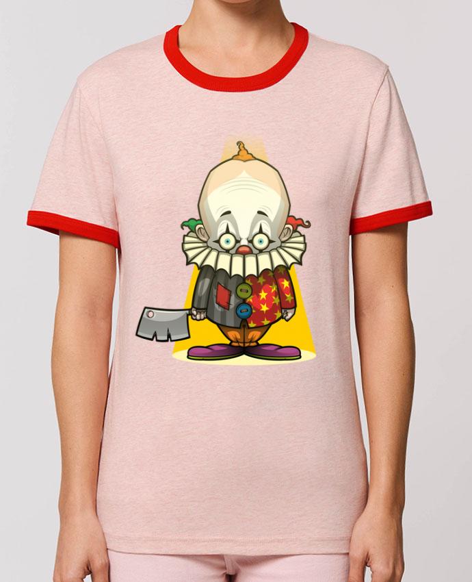 T-Shirt Contrasté Unisexe Stanley RINGER Choppy Clown porSirCostas