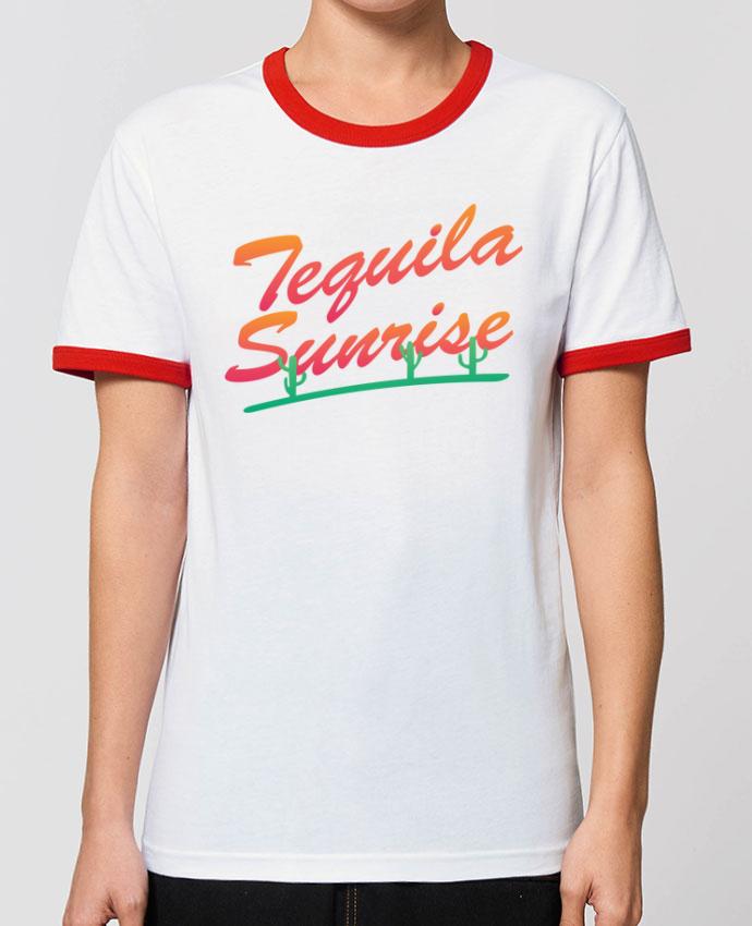 T-Shirt Contrasté Unisexe Stanley RINGER Tequila Sunrise portunetoo