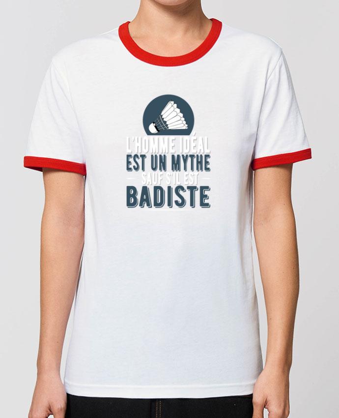 T-Shirt Contrasté Unisexe Stanley RINGER Homme Badiste Badminton porOriginal t-shirt