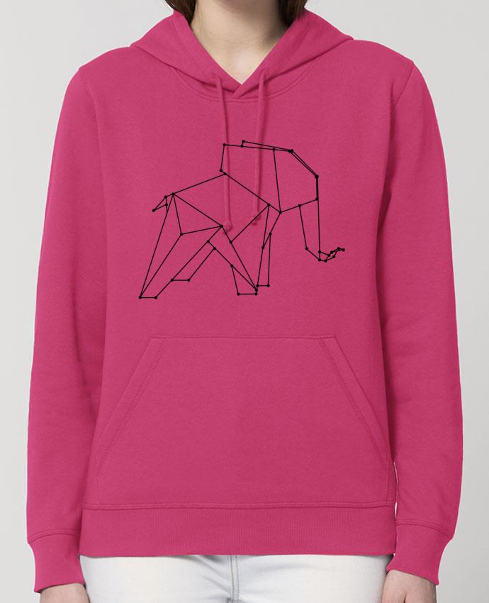 Sweat-Shirt Capuche Essentiel Unisexe Drummer Origami elephant Par /wait-design