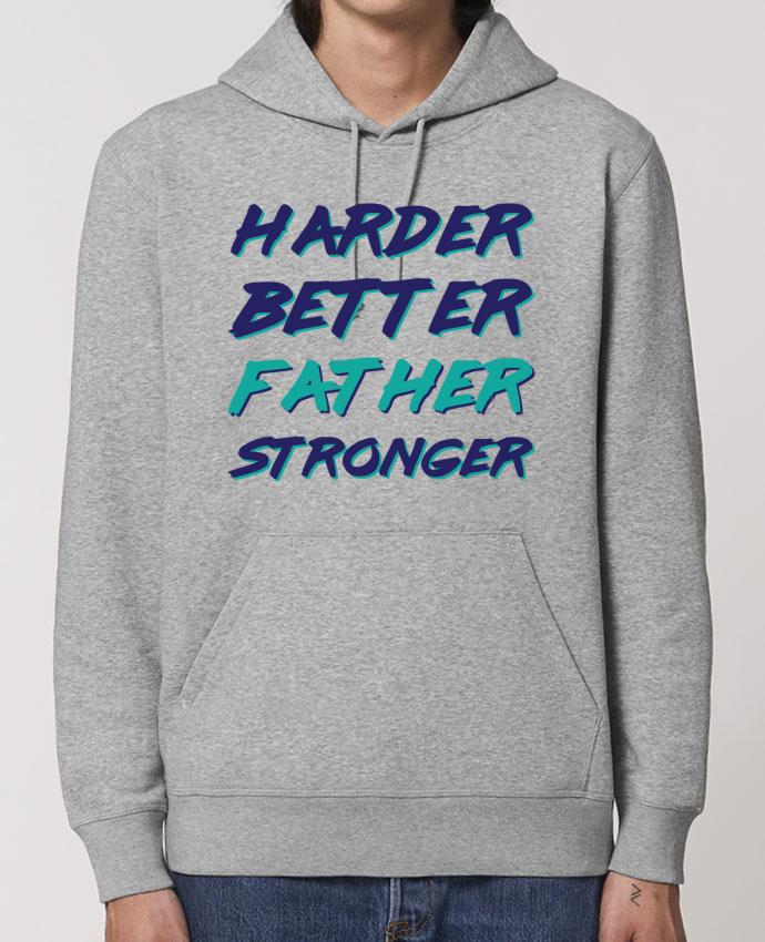 Sudadera Essential con capucha unisex  Drummer Harder Better Father Stronger Par tunetoo