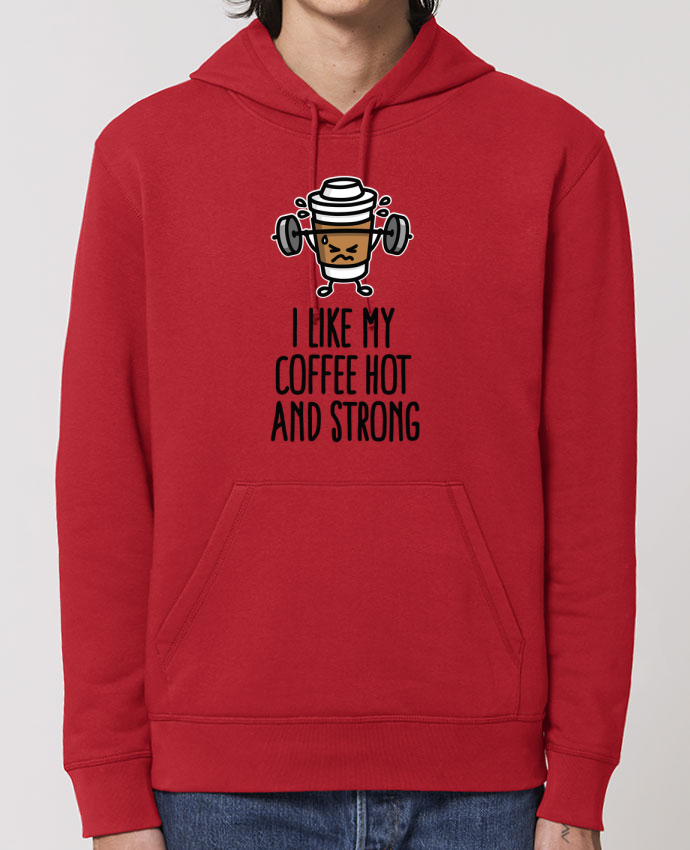 Sudadera Essential con capucha unisex  Drummer I like my coffee hot and strong Par LaundryFactory