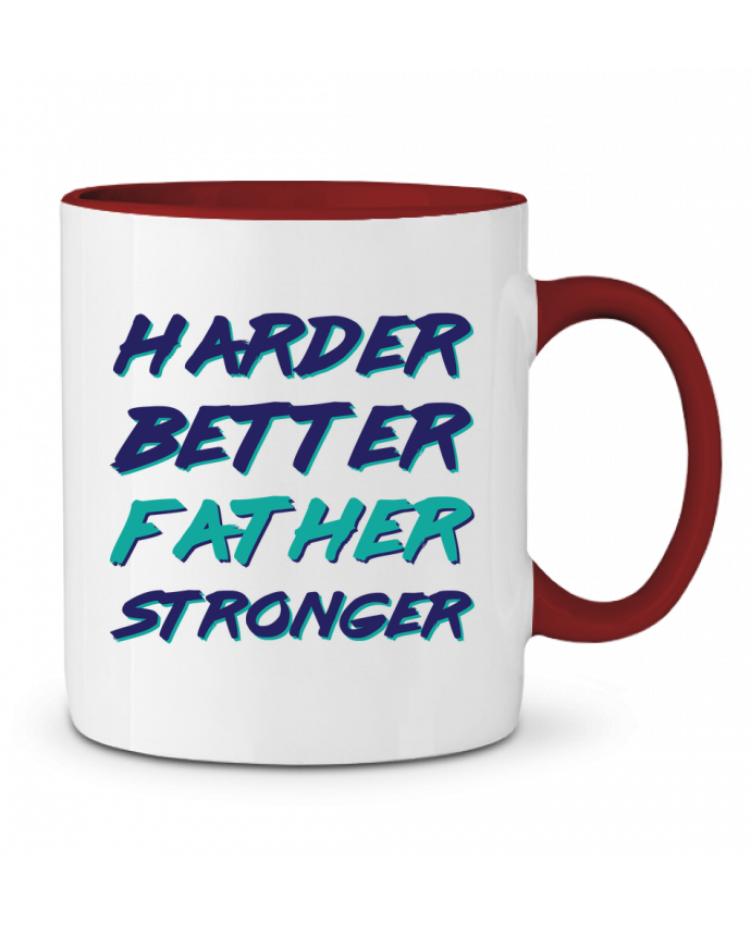Taza Cerámica Bicolor Harder Better Father Stronger tunetoo