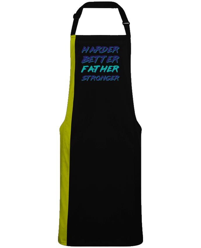 Delantal Bicolor Harder Better Father Stronger por  tunetoo