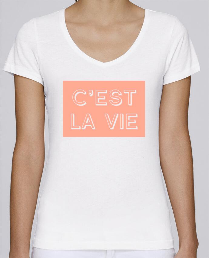 Camiseta Mujer Cuello en V Stella Chooses C'est la vie por tunetoo