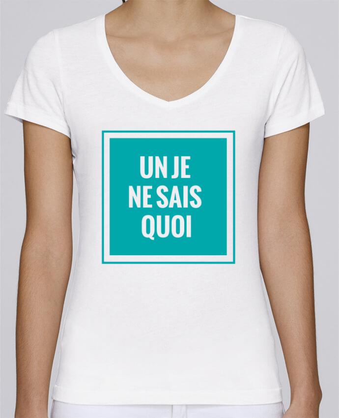 Camiseta Mujer Cuello en V Stella Chooses Un je ne sais quoi por tunetoo
