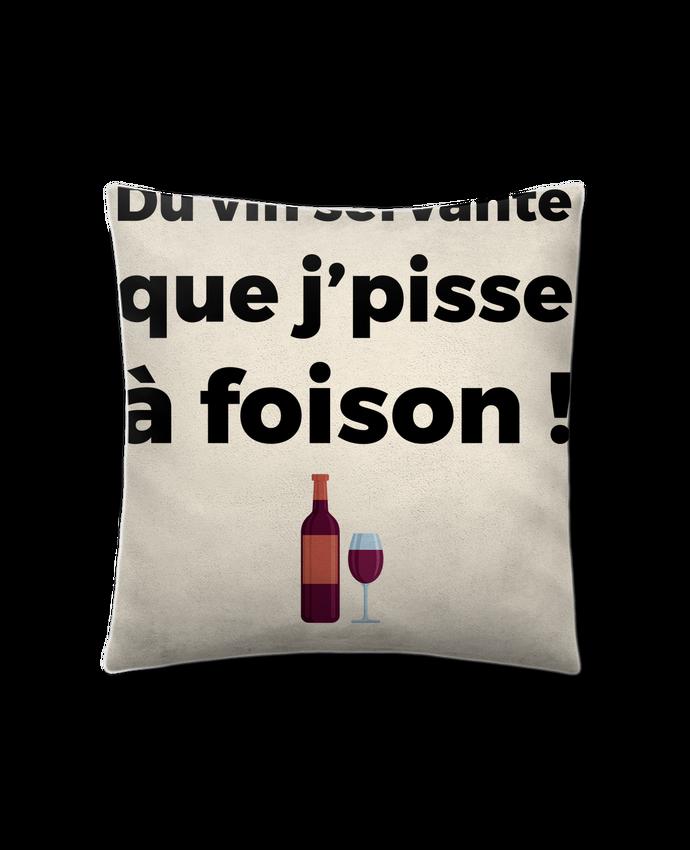 Cojín Piel de Melocotón 45 x 45 cm Du vin servante por tunetoo