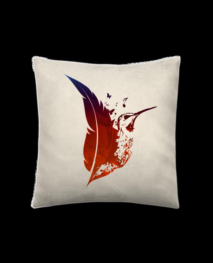 Cojín Piel de Melocotón 45 x 45 cm plume colibri por Studiolupi