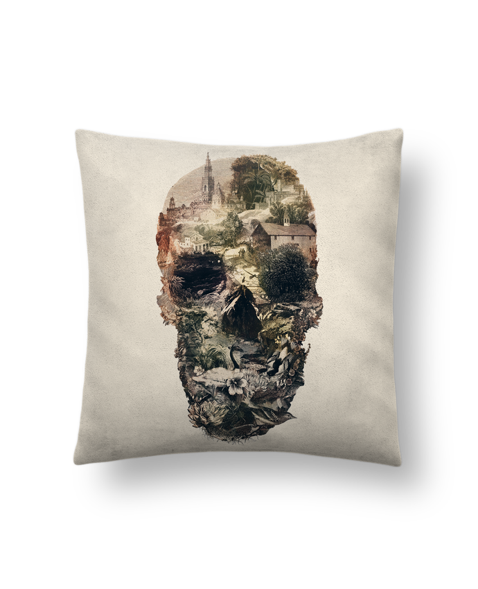Cojín Piel de Melocotón 45 x 45 cm Skull town por ali_gulec