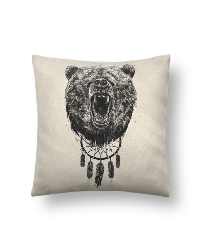 Cojín Piel de Melocotón 45 x 45 cm dont wake the bear por Balàzs Solti