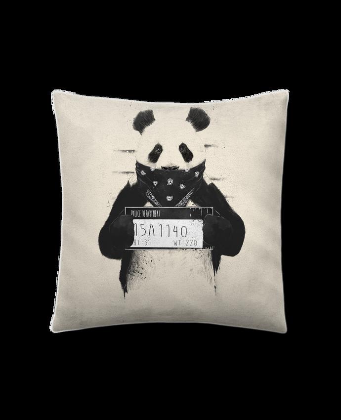 Cojín Piel de Melocotón 45 x 45 cm Bad panda por Balàzs Solti