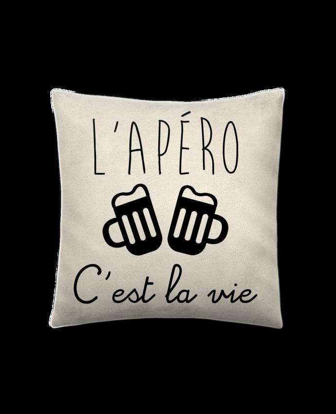 Cojín Piel de Melocotón 45 x 45 cm L'apéro c'est la vie , humour , alcool , drôle por Benichan