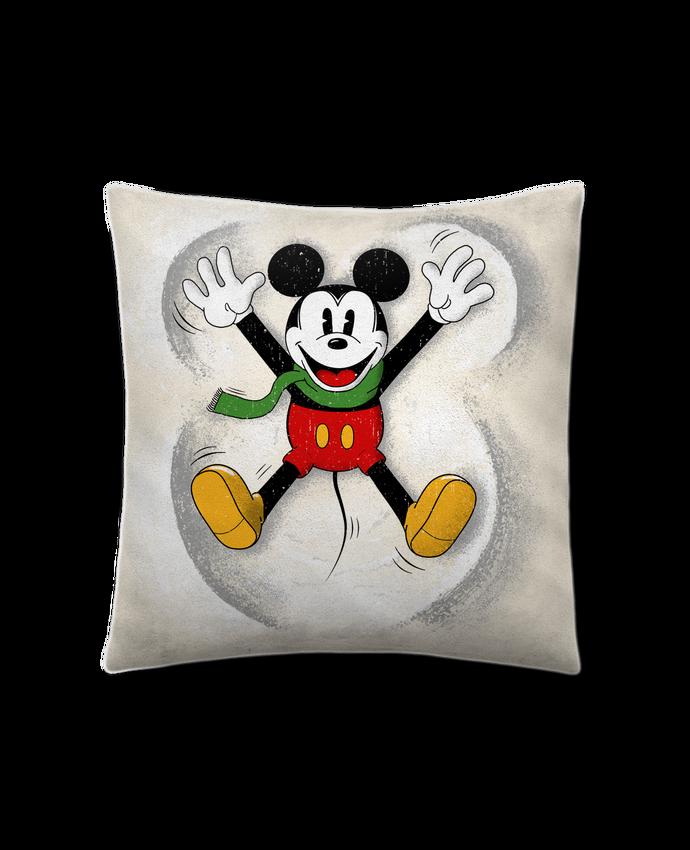 Cojín Piel de Melocotón 45 x 45 cm Mickey in snow por Florent Bodart