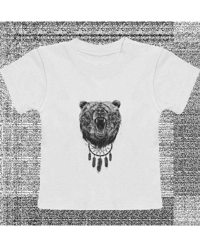 Camiseta Bebé Manga Corta dont wake the bear manches courtes du designer Balàzs Solti