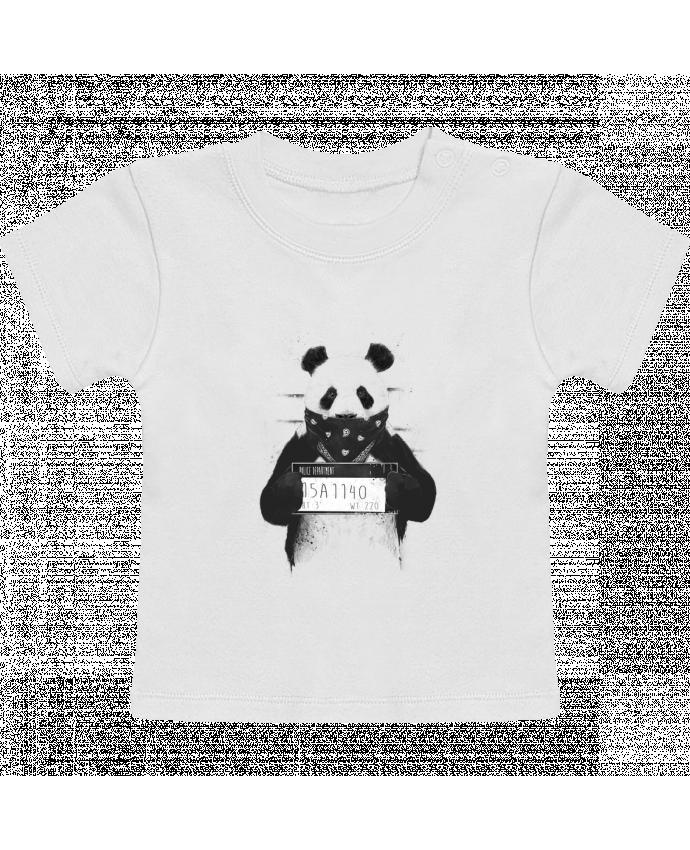 Camiseta Bebé Manga Corta Bad panda manches courtes du designer Balàzs Solti