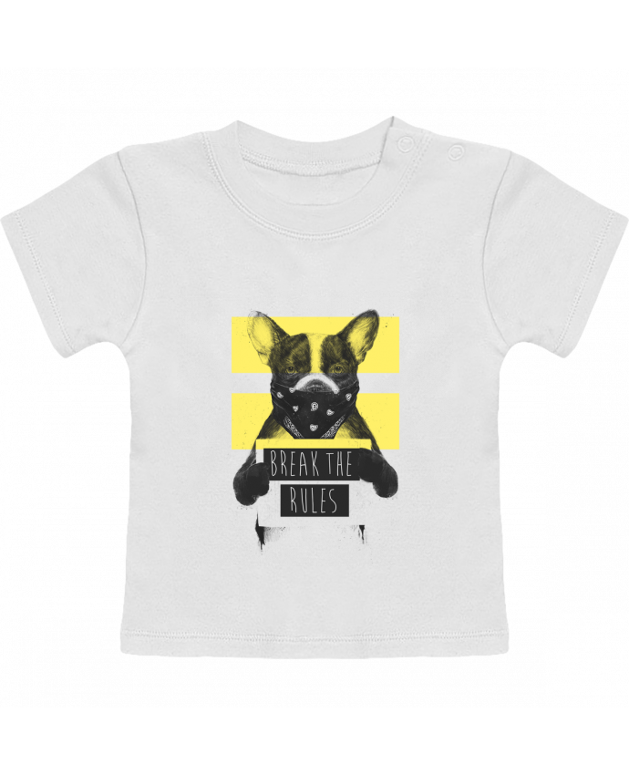 Camiseta Bebé Manga Corta rebel_dog_yellow manches courtes du designer Balàzs Solti