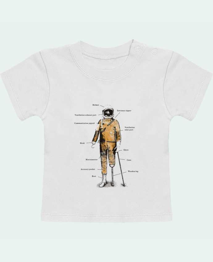 Camiseta Bebé Manga Corta Astropirate with text manches courtes du designer Florent Bodart