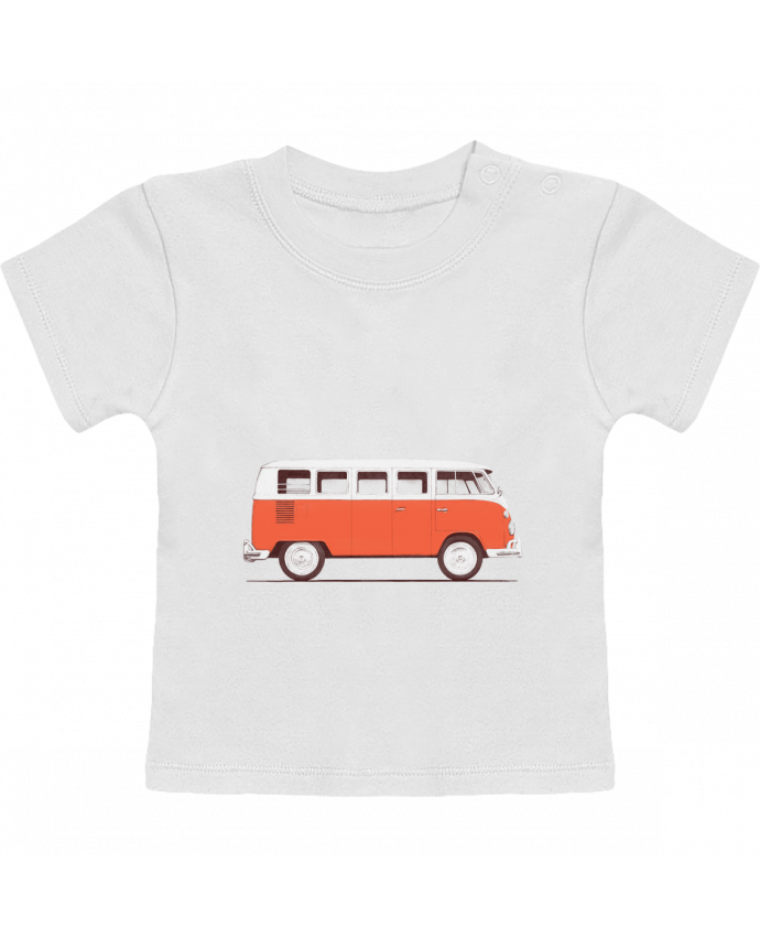 Camiseta Bebé Manga Corta Red Van manches courtes du designer Florent Bodart