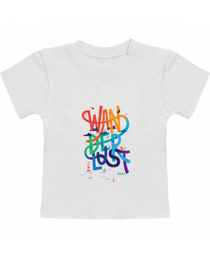 Camiseta Bebé Manga Corta WanderLust manches courtes du designer chriswharton