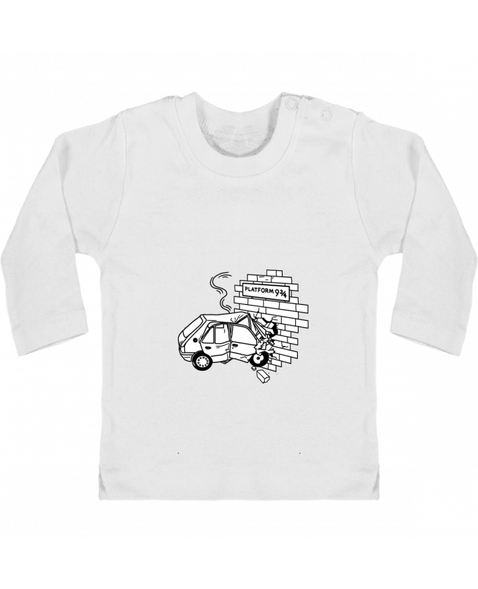 Camiseta Bebé Manga Larga con Botones  205 manches longues du designer tattooanshort