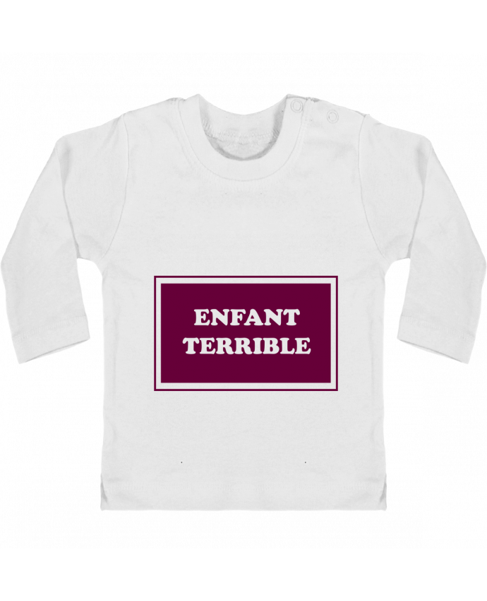 Camiseta Bebé Manga Larga con Botones  Enfant terrible manches longues du designer tunetoo
