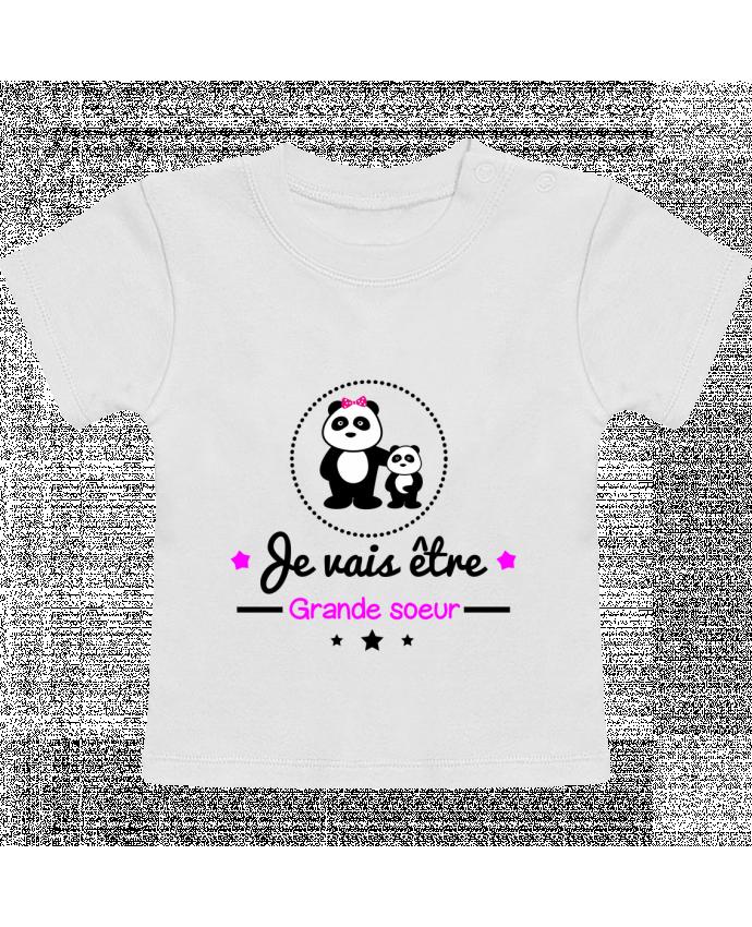 Camiseta Bebé Manga Corta Bientôt grande soeur - Future grande soeur manches courtes du designer Benichan