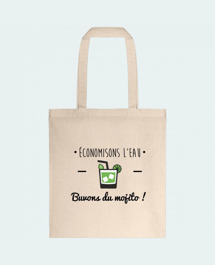 Bolsa de Tela de Algodón Économisons l'eau, buvons du mojito ! Humour , alcool , citations por Benichan