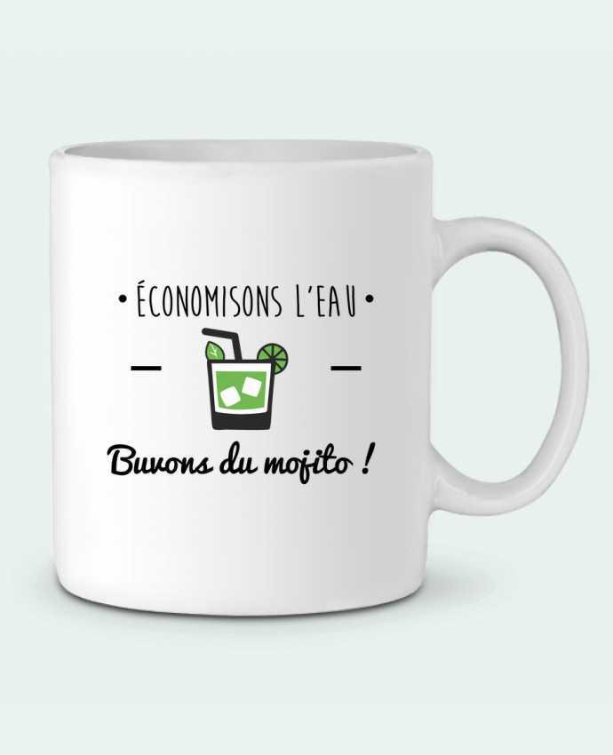 Taza Cerámica Économisons l'eau, buvons du mojito ! Humour , alcool , citations por Benichan