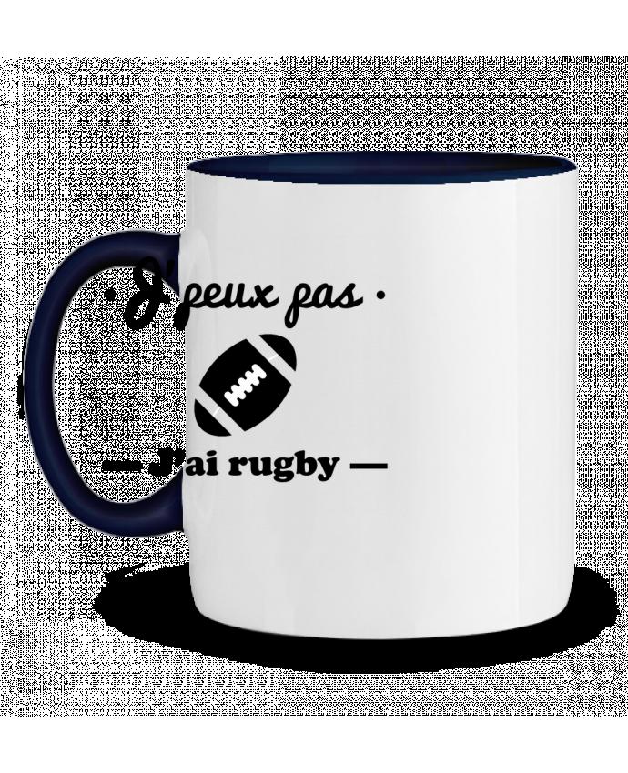 Taza Cerámica Bicolor J'peux pas j'ai rugby Benichan